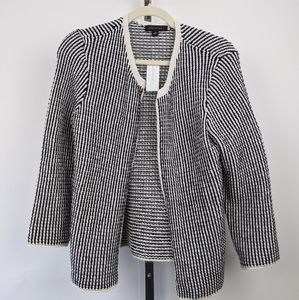 Ann Taylor small black and white cardigan sweater